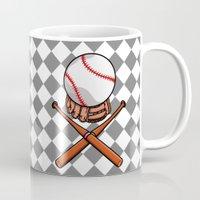 baseball Mugs featuring Baseball by mailboxdisco