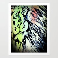 Marley the Lion Art Print