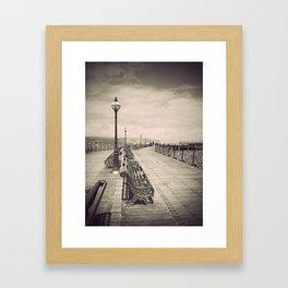 Swanage Pier Antiqued Framed Art Print