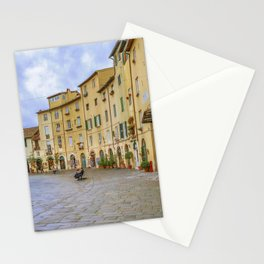 Piazza Anfiteatro, Lucca City, Italy Stationery Cards