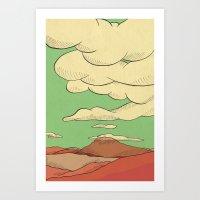 desert Art Prints featuring Desert by The Bad Artist