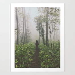 Through The Mist • Appalachian Trail Art Print