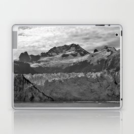 Looking Up the Glacier (Black and White) Laptop & iPad Skin