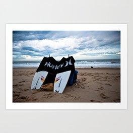 Hurley in Hossegor, France, World Tour of Surf Art Print