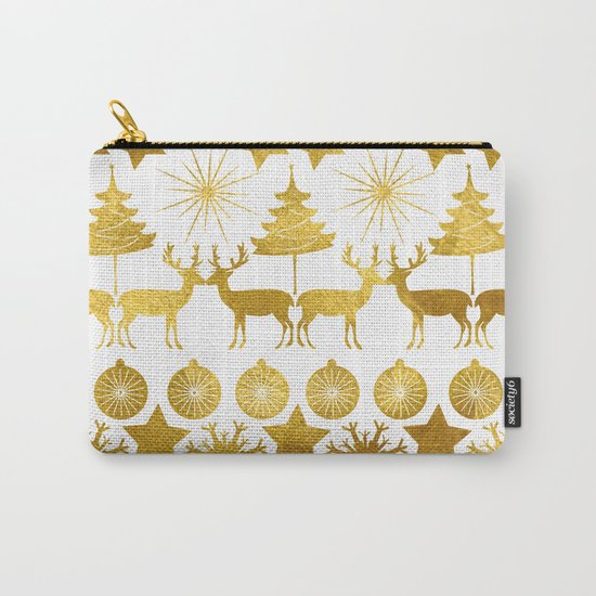 Gold Christmas 04 Carry-All Pouch