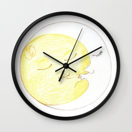 Moon Kiss Wall Clock