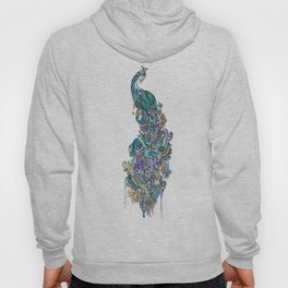 Peacock watercolor Hoody