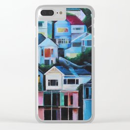 Whale in the City Clear iPhone Case