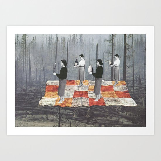 Les tisseuses Art Print