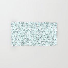Mint Watercolor Dots - Aqua, Teal, Mint, Blue Hand & Bath Towel