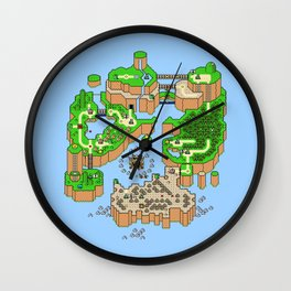 Super Mario World Map Wall Clock
