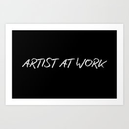 Artist At Work Art Print
