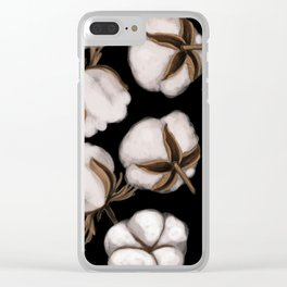 Cotton flower Clear iPhone Case