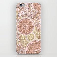 Rosey Gold Mandalas iPhone & iPod Skin