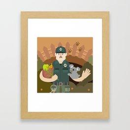 Zookeeper Framed Art Print