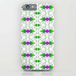 Grapevine Purple Cluster Grape Leaf Vegetation Pattern iPhone Case