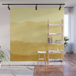 Ombre Waves in Gold Wall Mural