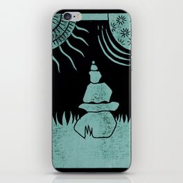 Relaxation (Black) iPhone Skin