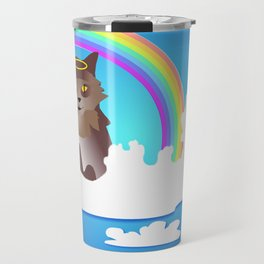 Momma Kitty & Rainbow Bridge Travel Mug