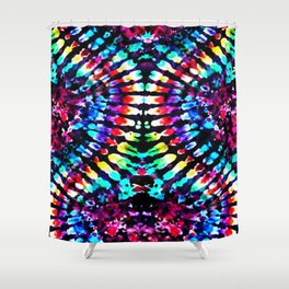 Tie Dye Hour Glass Shower Curtain