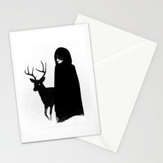 Absentia in white Stationery Cards