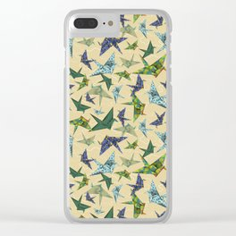 5 Washi Cranes Clear iPhone Case