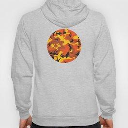 Camouflage orange, yellow, black Hoody