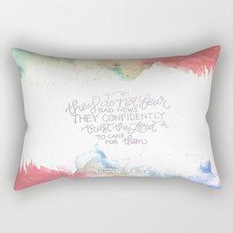 Confidently Trust- Psalm 112:7  Rectangular Pillow
