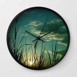 Among the Reeds Wall Clock