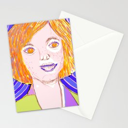Surreal portrait Stationery Cards