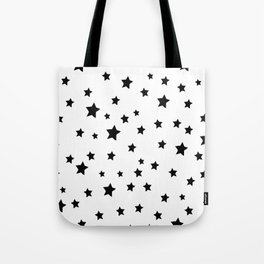 Black and White Stars Tote Bag