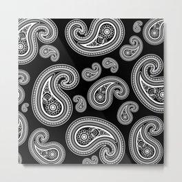 Invert paisley pattern Metal Print