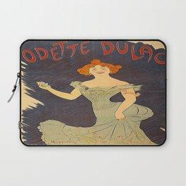 Vintage poster - Odette Dulac Laptop Sleeve