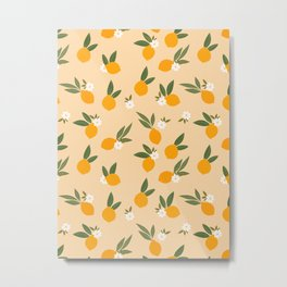 Cute Oranges Metal Print