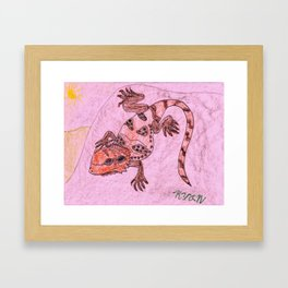 Bearded Dragon Lizard Framed Art Print