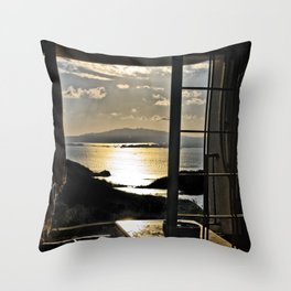 The Haunted Sunset Throw Pillow