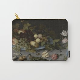 Balthasar Van Der Ast - Still Life With Fruit And Flowers Carry-All Pouch