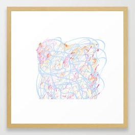 Curles of authenticity Framed Art Print