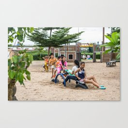 On the Playground, Vientiane, Laos Canvas Print