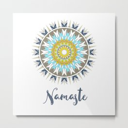 Mandala Namaste, colorful mandal Metal Print