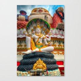 Lord Vishnu Thailand Temple Canvas Print