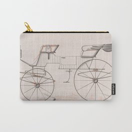 Design for 2 seat Phaeton no.3035a 1874 Brewster Co // Retro Drawing Vehicle Transportation Carry-All Pouch