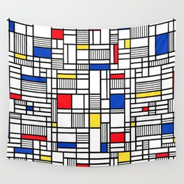 Map Lines Mond Wall Tapestry