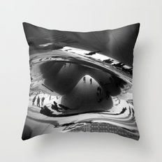 Her first day in Chicago Throw Pillow