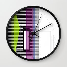 Architectural Stripes Wall Clock