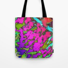 Shattering pink tigers Tote Bag
