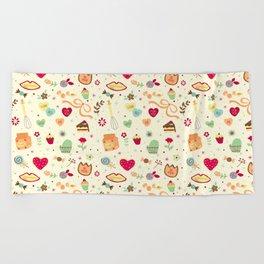 Cake Pattern Beach Towel