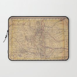 Colorado Vintage Map Laptop Sleeve