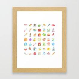 CUTE COOKING PATTERN Framed Art Print