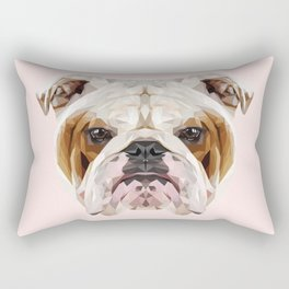 English Bulldog // Pastel Pink Rectangular Pillow